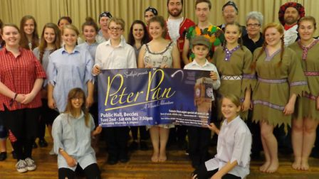 Some of the cast of Spotlight Theatre Group's production of Peter Pan which is being performed at Be