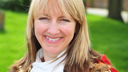 Beccles mayor Caroline Topping who is calling on dog owners to clean up after their pets