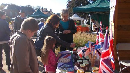 The Beccles Twinning Association stall created a lot of interest at the autumn festival Fete d'Autom