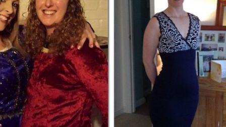 Emma Duncan before and after the weight loss