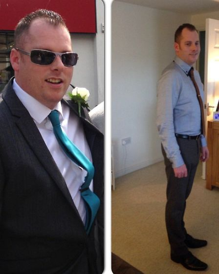 Matthew Duncan before and after his weight loss