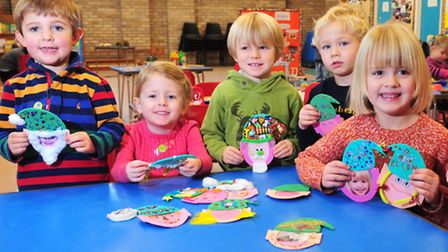 Youngsters from Sunbeams Pre School, Beccles have been making festive decorations for the Hungate Ch