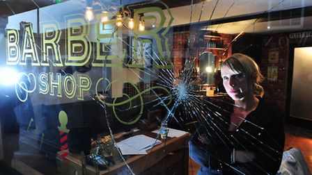 Rachel Fleet from Fleets barber shop,Beccles has had her business vandalised on the first day of bus