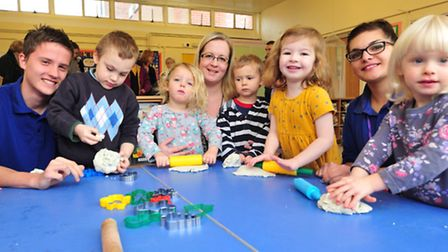 Ditchingham Day Nursery open a newly refurbished classroom.