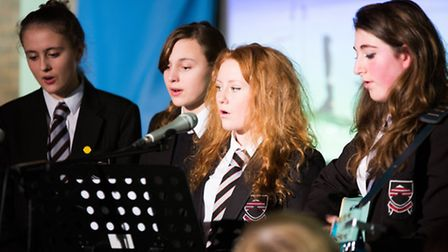 Some of the musicians from Bungay High School who played at the school's award presentation evening.