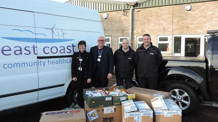 East Coast Community Healthcare (ECCH) chief executive Jonathan Williams (second left) with (from le