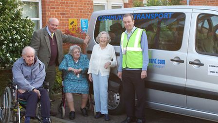 Volunteers and users of the Beccles and Bungay Community Transport