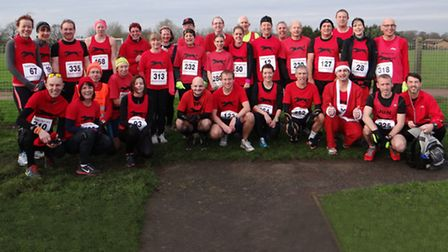 TURKEY TROT: The Black Dog contingent who took part in the annual Turkey Trot.
