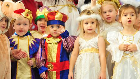 Youngsters from Worlingham Pre-School perform the nativity play.
