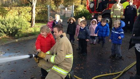 Children from Ringsfield Primary School have enjoyed a visit from the fire brigade