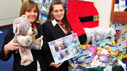 Co-op Travel department, Beccles have been collectiong gifts for the Santa's Suitcase appeal.Sarah R
