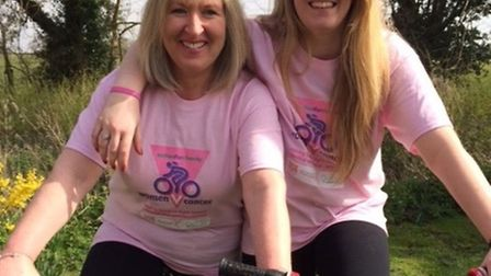 Nicola Green and Sophie Green who will cycle 217 miles across Tanzania in October. Picture: SUBMITTE