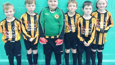 The Beccles team at the Futsal.