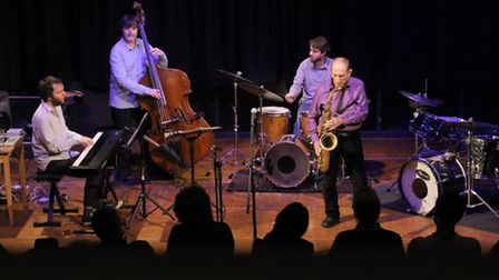 The Bobby Wellins Jazz Quartet playing at the Fisher Theatre, Bungay.
