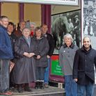 Halesworth and Blyth Valley Partnership members with Akhtar Miah of the Raj Puth Indian restaurant,