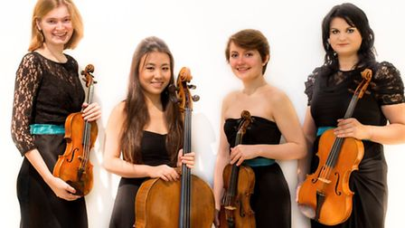 The Halcyon Quartet are performing at The Cut, Halesworth.