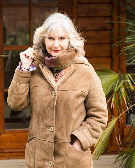 Frances Crickmore pictured this week in her sheepskin coat from Nursey and Son