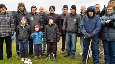 A group of the Bungay supporters who cheered the Black Dogs to victory on Saturday