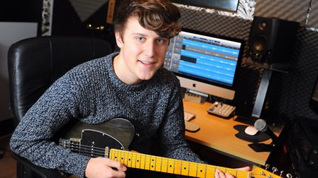 Langley student Jack Baxter (16) has taken over the Toad Row Studios at Henstead.Picture: James Bass