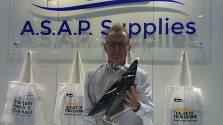 Peter Edwards of ASAP Supplies was presented with a lifetime's achievement award at the London Boat