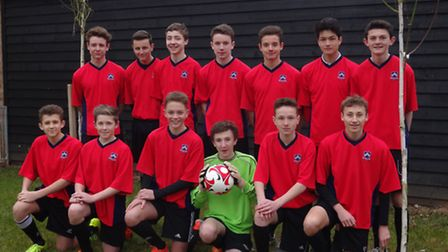 The successful Bungay High School football team which has qualified for the Suffolk county final.