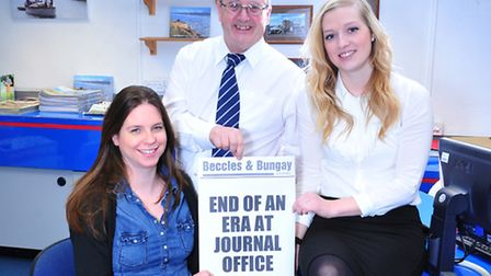 Beccles and Bungay Journal team David Lennard, louisa Lay, amy Smith and Nick Butcher