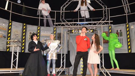 """Pupils from Hobart High School, Loddon, rehearse for their performances of """"Return to the Forbidden"""