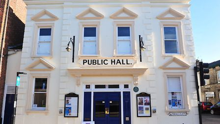Beccles Public Hall directors John Cushing and Terry Dentith celebrate two years running as a commun