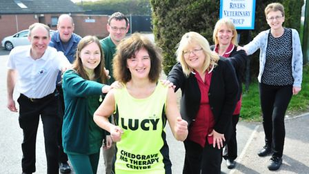 Beccles Veterinary nurse Lucy Woodburn is getting ready to run the London Marathon in aid of the Che