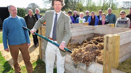 A new compost scheme has been set up in Hales near Loddon and was formerly opened by Sir Nicholas Ba