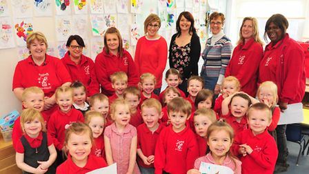 Youngsters from Worlingham Pre-School have taken part in a Easter colouring competition judged by lo