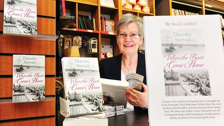 """Local author Dorothy Stewart with her new book """"When The Fisher Girls Came to Town""""at Waterstones bo"""