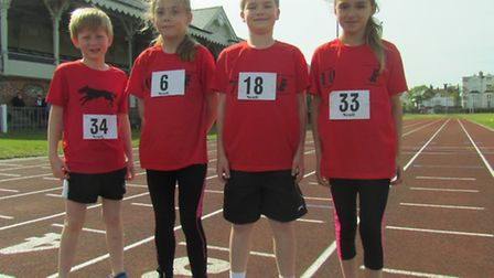 JUNIORS: Young Bungay Black Dog athletes who took part in the Interclub competition. From left to ri