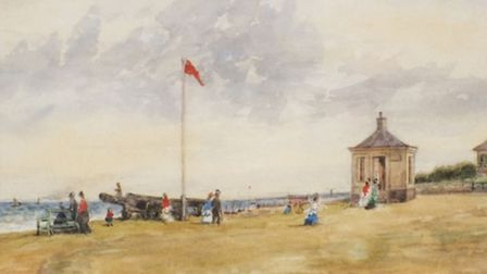 Thomas Churchyard's watercolour painting, The Path from Gun Hill to Beach at Southwold, will be sold