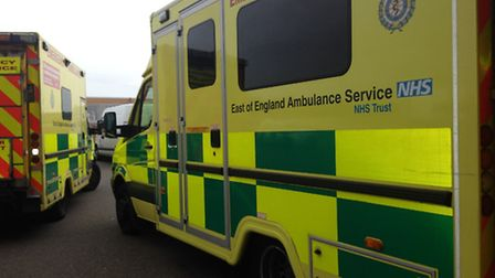 Ambulances were called to Beccles Road, Barnby after a collision involving two cars. Picture: SABAH