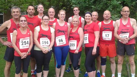 The Black Dog runners taking part in the Diss 10k.