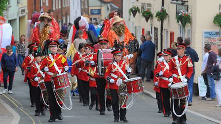 Loddon Carnival procession passing up the High Street. Photo: Steve Adams