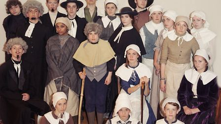 The cast of The Crucible at Bungay's Fisher Theatre.