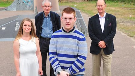Sam Kenward, 19, just become a new Town Councillor for Beccles and the Council's new youth champion.