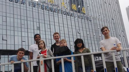 The Beccles Free School students at the RoboCup World Championships in China.