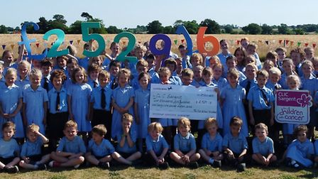 Pupils at The Old School Henstead have raised £2,529.16 by taking part in two events for CLIC Sargen
