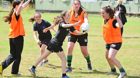 A fun taster session organised by Beccles Rugby Club to encourage girls and ladies to take up the ru