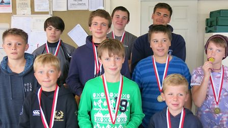 Beccles ASC's Junior open 2015 prize winners.