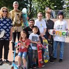 Nik Rose and other members of the Beccles Skatepark Committee which was set up to advise the council
