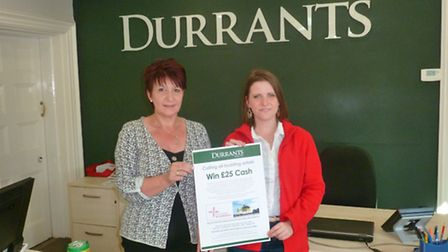 Sandra Wyatt from Durrants and Holly Noon from EAAA launching Durrants' competition to find a young