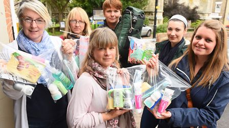 A group from Beccles collecting aid to be sent to refugees in Calais and beyond.Caroline Topping, Al