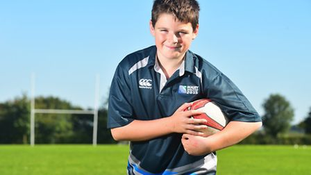 Bungay High School student Anton Parocki has been selected to be a mascot for the Rugby World Cup ma