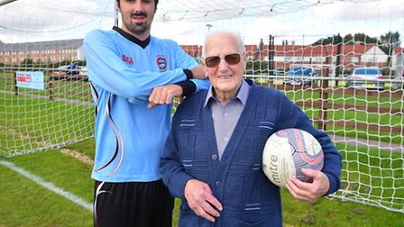 90th Birthday celebrations for Bungay Town Football Club. Former players from over the years gather