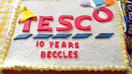 10th anniversary celebrations for Beccles Tesco.