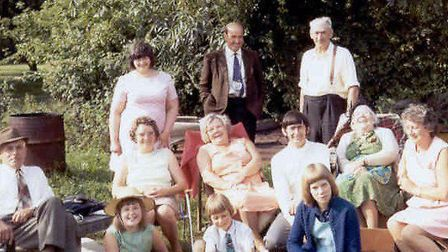 Mark Fairhead sent this photo in the 1970s when Olive and David visited the family in East Anglia.Da